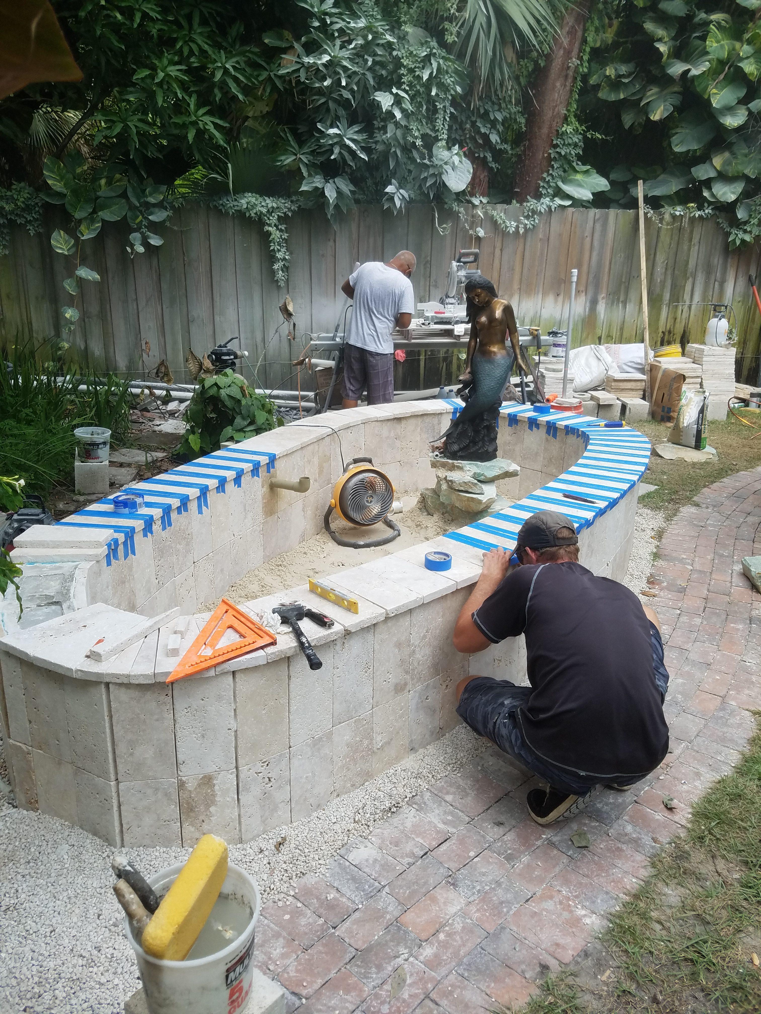 Miami pond alchemy pond fountain water garden